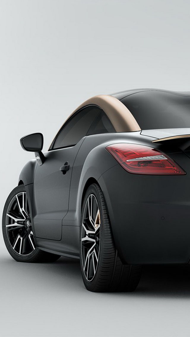 2014 Peugeot RCZ R Black iPhone 6 / 6 Plus and iPhone 5/4 Wallpapers