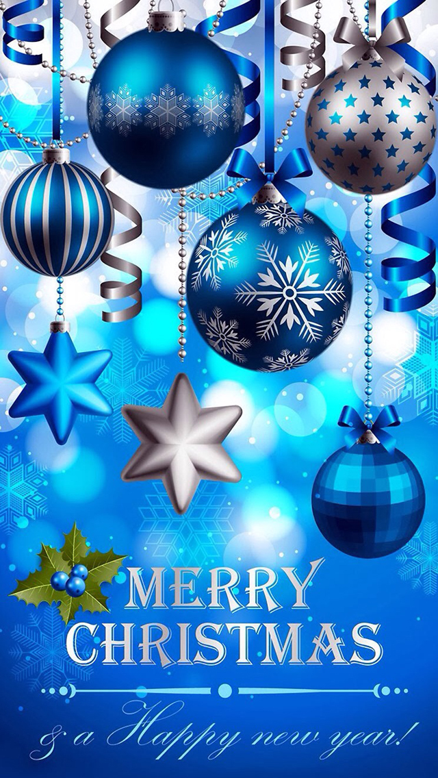 Blue Christmas Ball Ornaments IPhone 6 6 Plus And IPhone