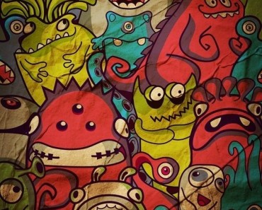 Cartoon Monsters Pattern