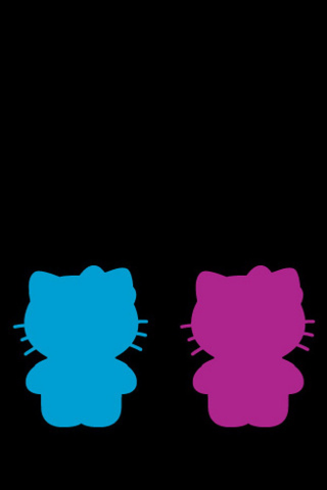 Black Girl Wallpaper Hello Kitty Silhouette Wallpaper Free Iphone Wallpapers