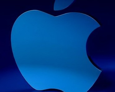3D Blue Apple Logo