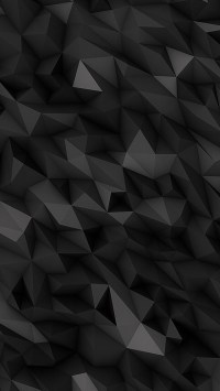 3D Dark Abstract Polygons