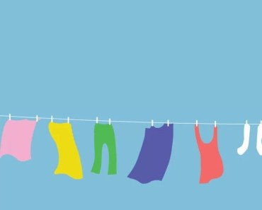Clothing Hanging On A Clothesline