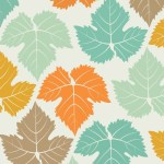 Colored Maple Leaves Pattern