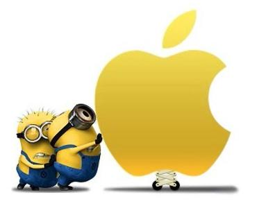 Minions with Apple Logo