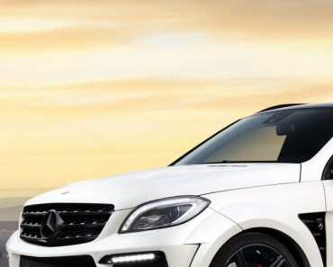 White Mercedes Benz ML63 AMG