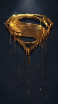 Gold Superman Logo