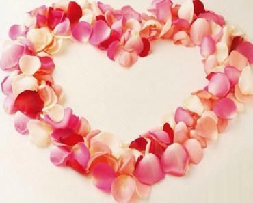 Love Heart Of Flower Petals