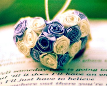 Rose Flower Heart On The Book