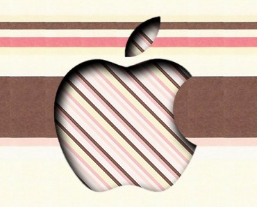 3D Paper Apple Logo