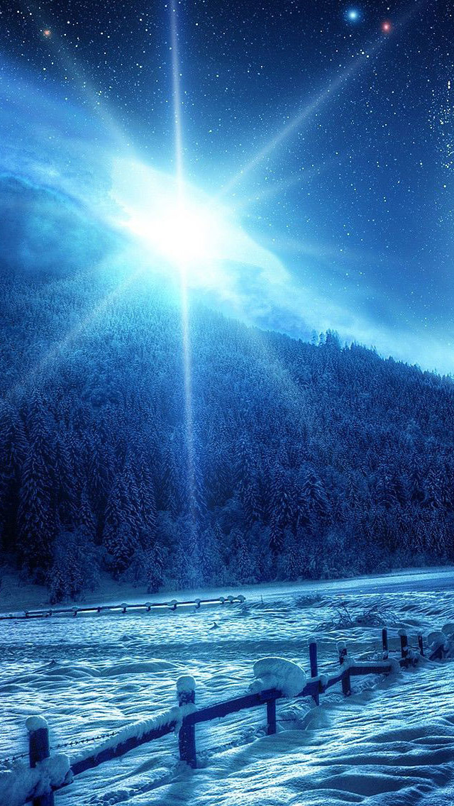 3d Wallpaper Parallax Free Blue Winter Sunrise Iphone 6 6 Plus And Iphone 5 4
