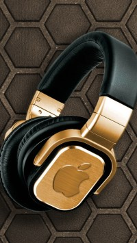 Golden Apple Headphones