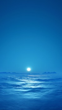 Blue Sky & Sea Bright Moon