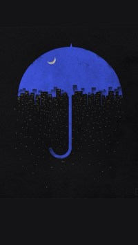 Creative Blue Umbrella