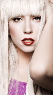 lady gaga white hair wallpaper