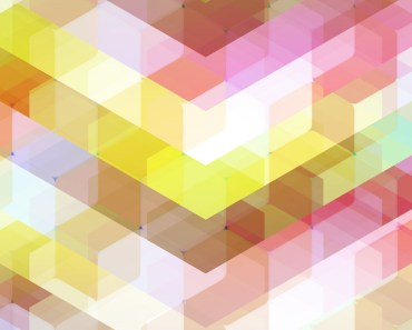 Colorful Hexagon Abstraction