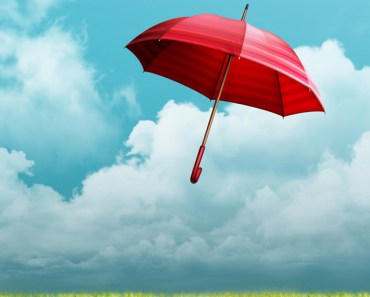 Flying Red Umbrella