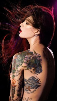 Long Hair Tattoo Girl