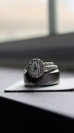 Diamond Ring On The Desk
