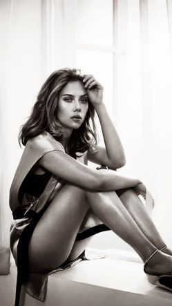 Scarlett Johansson Black and White