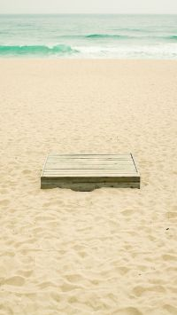 Wooden Box On The Beach
