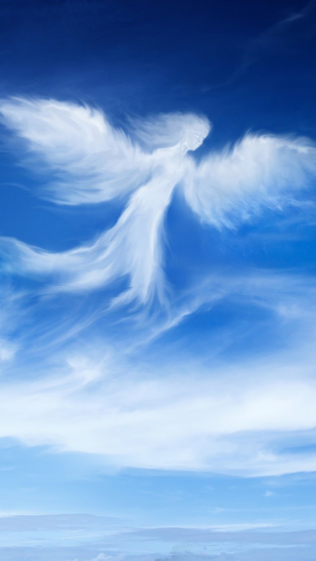 Angel Wallpapers With Quotes Cloud Angel Iphone 6 6 Plus And Iphone 5 4 Wallpapers