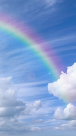White Clouds Rainbow