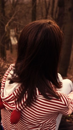 Brown Hair Girl In The Woods