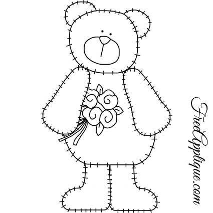 Teddy Bear Patterns, 8 Teddy Bear Patterns: Free Applique