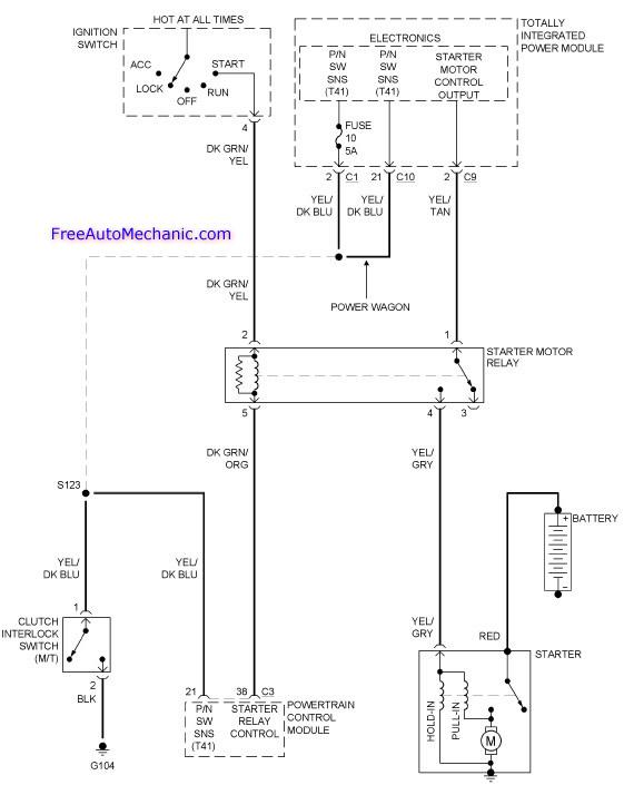 Dodge Ram Starter Wiring Diagram