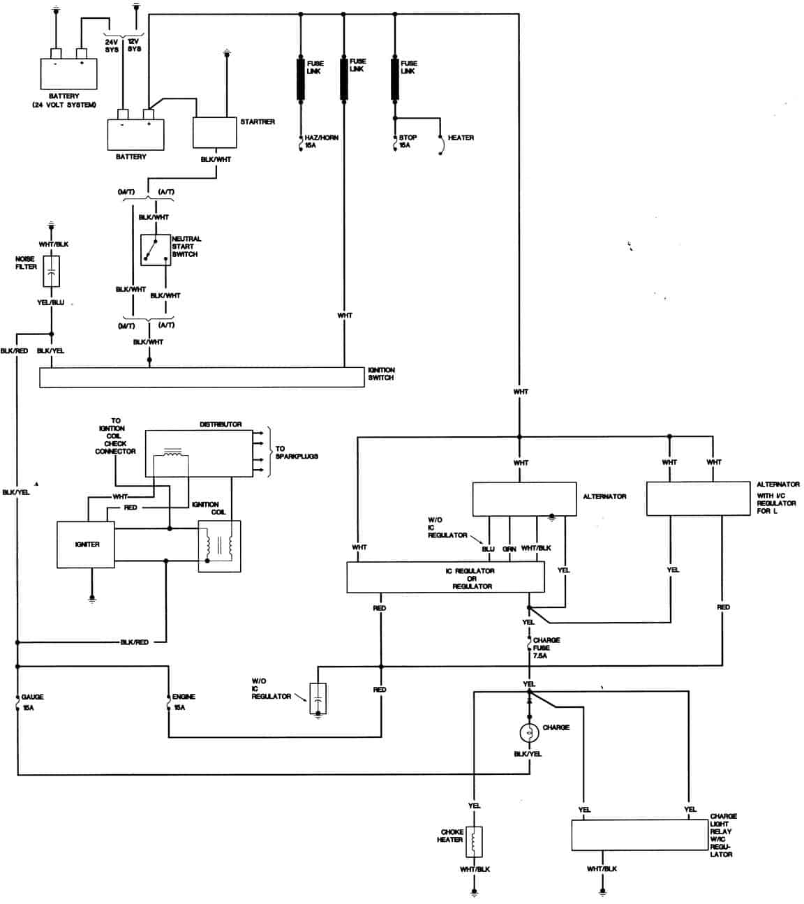 system wiring diagrams toyota fujitsu ten stereo diagram charging 1983 22r pu 4x4 freeautomechanic advice