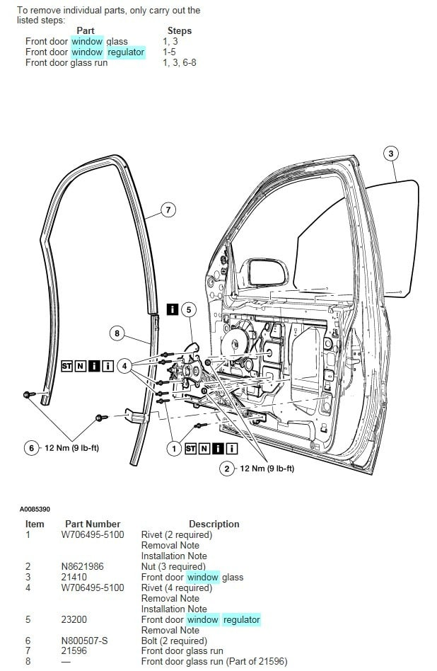 2004 Mercury Mountaineer Repair Diagrams