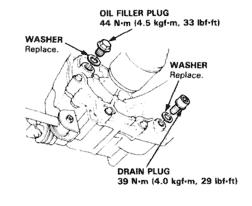 2000 Honda Civic LX drain and fill transmission