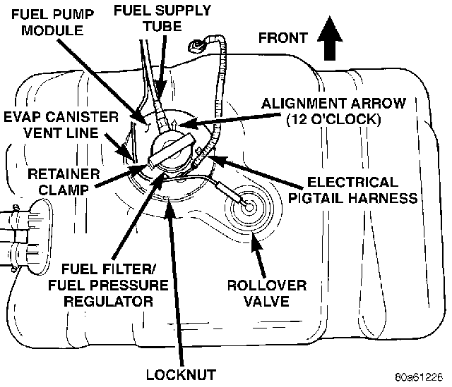 1998 jeep grand cherokee fuel filter location