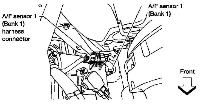Nissan Code P1273 Air Fuel Sensor 2004 Titan 5.6