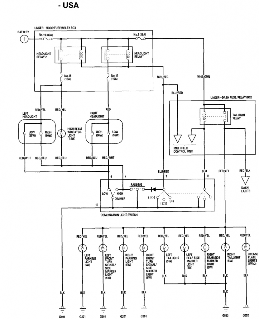 [DIAGRAM] 2000 Honda Accord Headlight Wiring Diagram FULL
