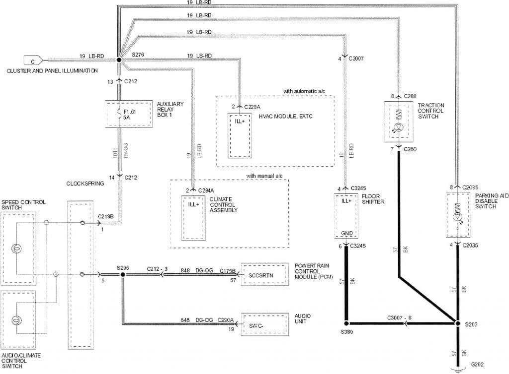 2007 ford f150 brake light wiring diagram 1989 ezgo golf cart parking switch archives