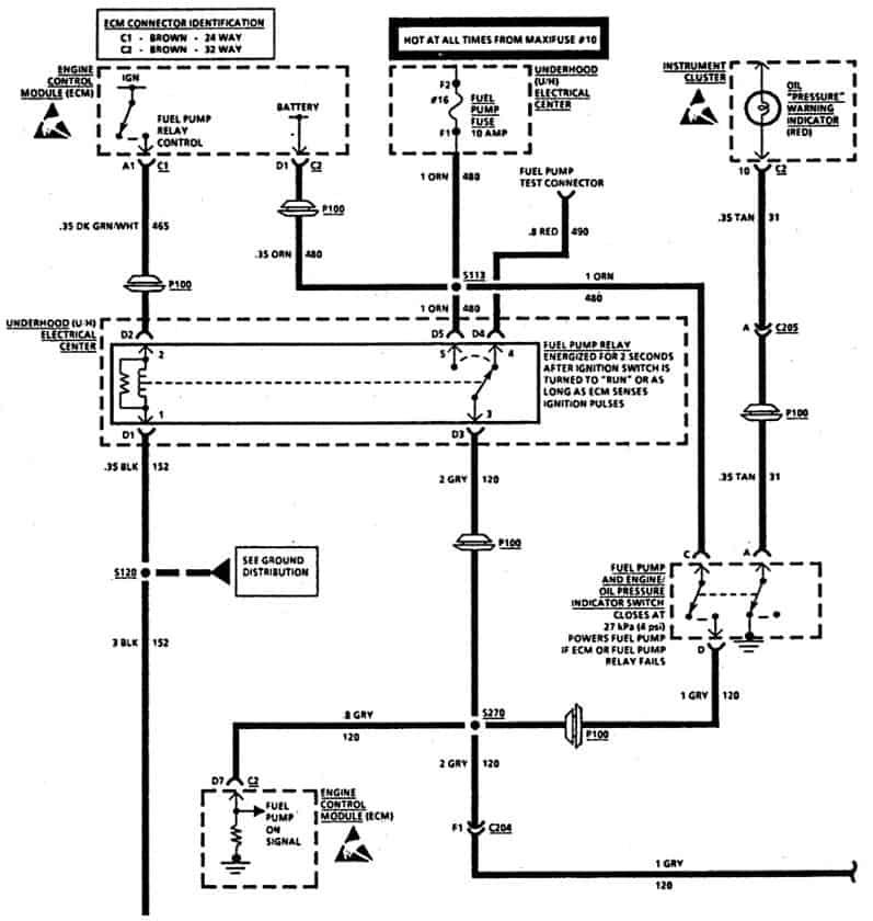 Fuel Pump 1993 Cadillac Fleetwood Brougham