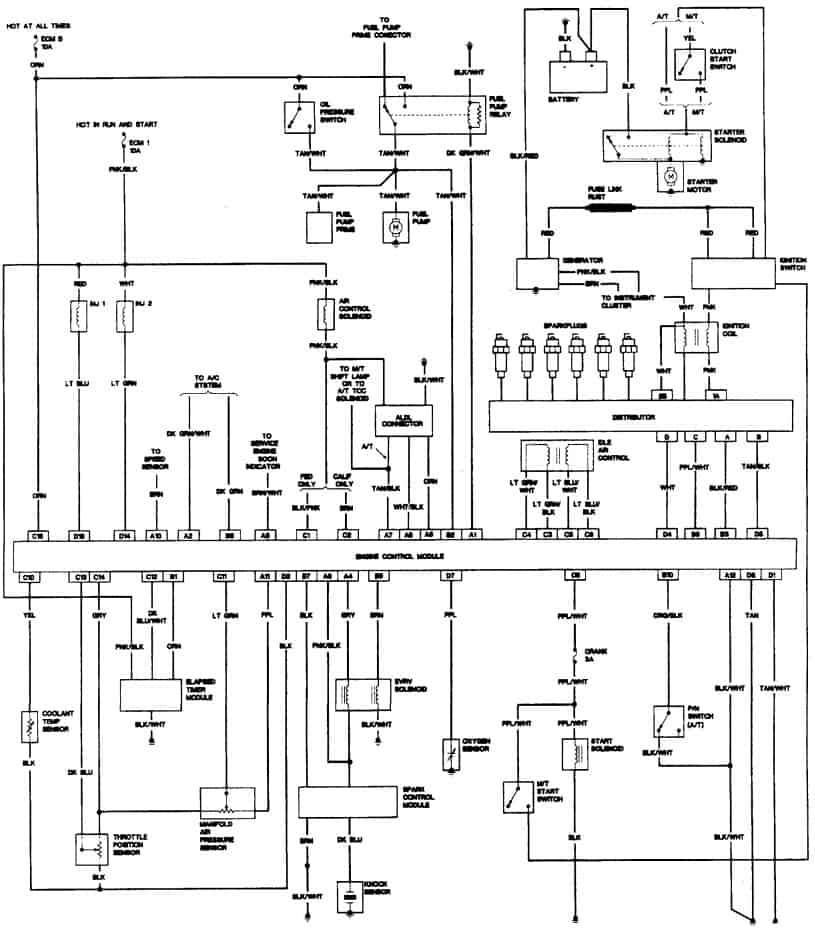 Chevy S10 Headlight Wiring Diagram : 2001 chevy s10