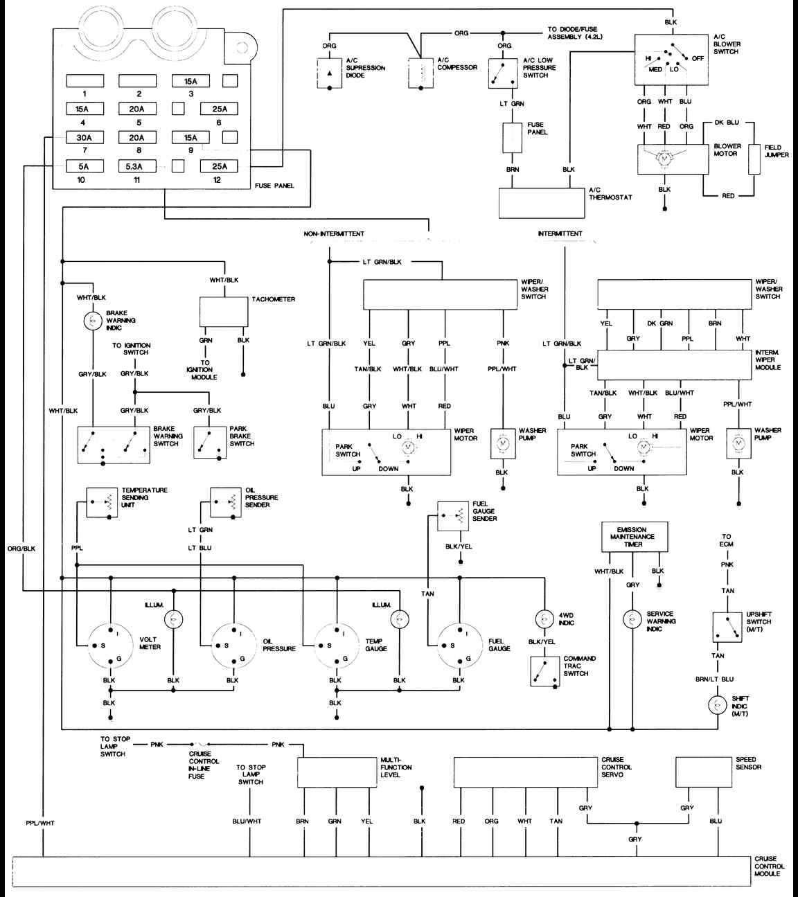 89 Comanche Wiring Diagram | Wiring Liry on