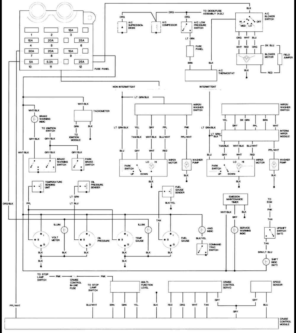medium resolution of 1989 jeep wrangler wiring harness diagram wiring library jeep ignition system diagram 1994 jeep yj ignition wiring diagram