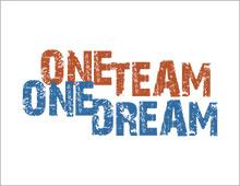 One Team One Dream Artwork - Tshirts. Sweatshirts