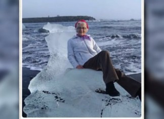 Grandma Floats Away On Ice Throne For Now Viral Vacation Photo