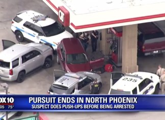 High-Speed Chase Ends With Suspect Doing Push-Ups