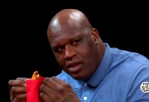 Teary-Eyed Shaq Eats Hot Wings And Shares The Best Prank He Pulled On Charles Barkley
