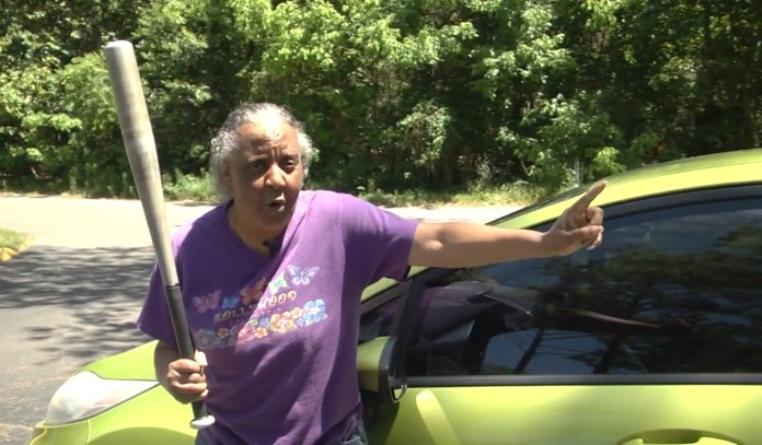 Granny With Baseball Bat Takes On 300-Pound Half-Naked Attacker