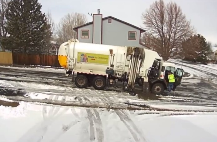 Garbage Truck Worker Caught On Camera Dumping Liquid Waste In Front Of Home