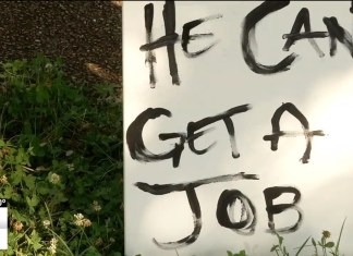 Man Fed Up With Panhandler Makes Sign Saying 'He Can Get A Job'