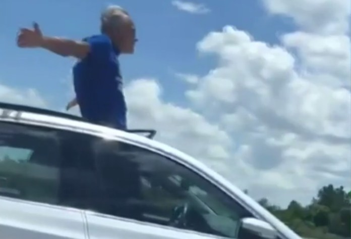 Florida Man Arrested For Standing In Sunroof While Driving Down Interstate