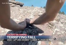 Climber's Body Camera Captures His Horrifying 60-Foot Free-Fall